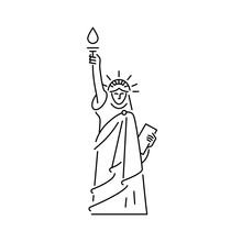 Statue Of Liberty Icon. Symbol...