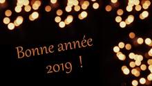 Bonne Année 2019,sur Fond Bokeh