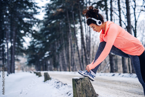 Fotografía  Youn can't let the weather affect your fitness routine