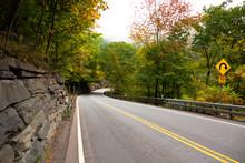 Early Autumn Road Thru Mountain Range