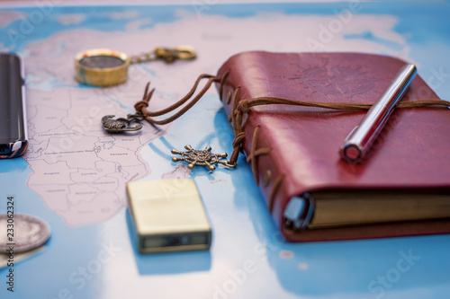 Obraz agenda en cuir - fototapety do salonu