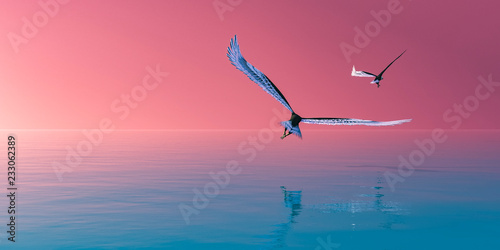 Foto op Canvas Candy roze Eagle