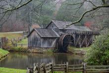 Mabry Mill On A Rainy Autumn Day