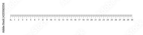 Fotografía  Ruler 30 cm grid template