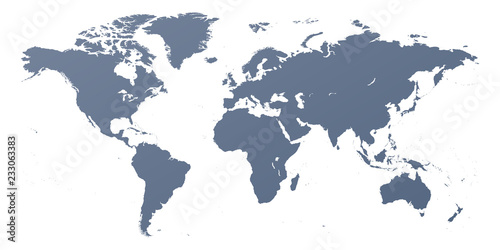 Detailed World Map Outline Contour Silhouette Buy This Stock