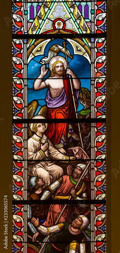 Fotografie, Obraz Stained glass window from St