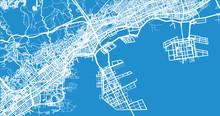 Urban Vector City Map Of Kobe, Japan