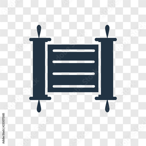 Photo Torah vector icon isolated on transparent background, Torah transparency logo de