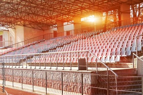 Plakat Architektura przemysłowa. puste trybuny, stadion, Winnica, park miejski