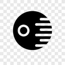 Death Star Vector Icon Isolate...