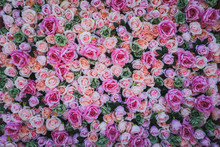 Artificial Flowers Wall For Ba...