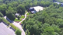 Aerial View Of The Billy Graham Library In Charlotte North Carolina 2.mov