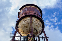 Rusty Water Tower - Low Angle