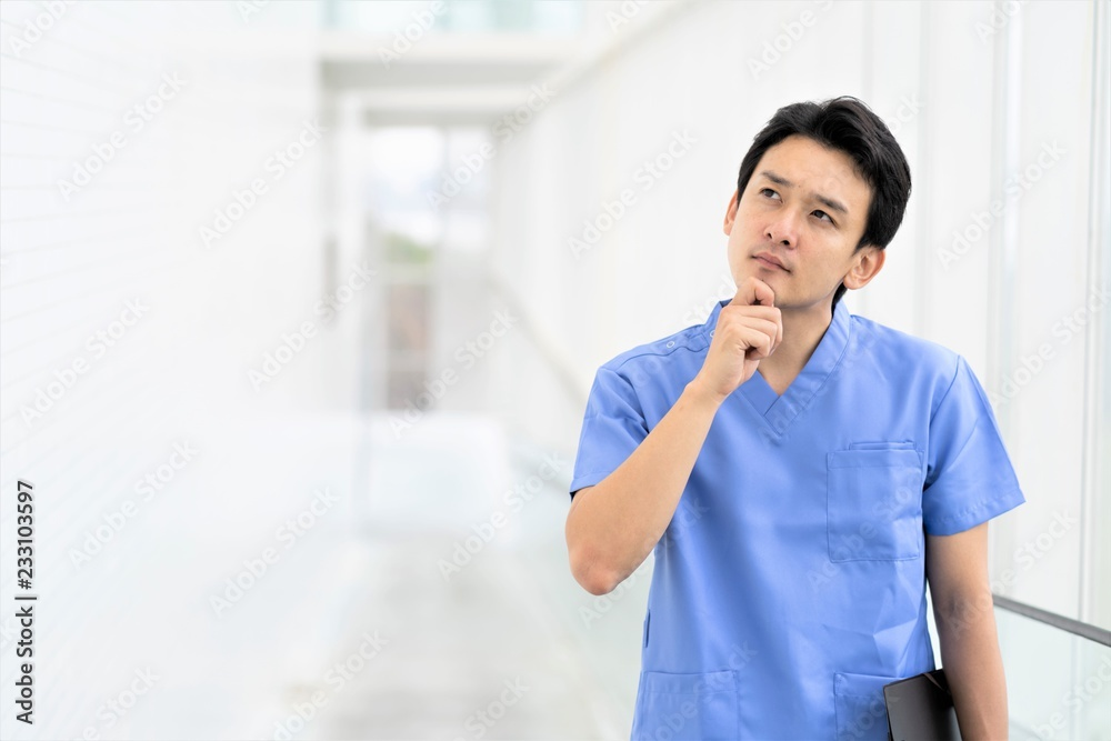 Fototapeta 悩む医師