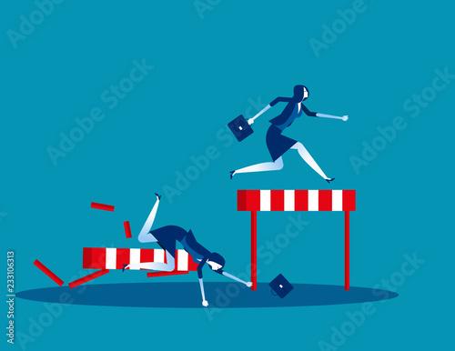 Fotografía  Competition business, Concept business vector illustration, Flat business cartoon, Defeat, Loss, Rivalry, Victory, Achievement