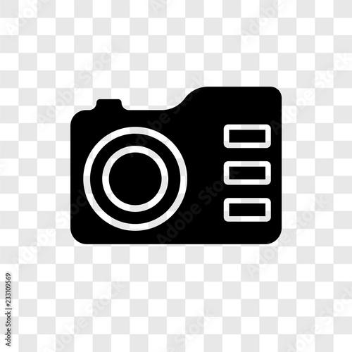 Fototapety, obrazy: Photo Camera vector icon isolated on transparent background, Photo Camera transparency logo design