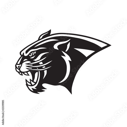 Black Panther Head Logo Head Mascot Sports Team Vector Icon Buy This Stock Vector And Explore Similar Vectors At Adobe Stock Adobe Stock