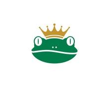 King Frog Logo Template Vector Illustration