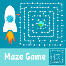 Simple Maze. Help The Rocket F...