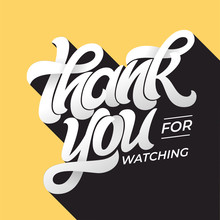 THANK YOU FOR WATCHING Retro T...