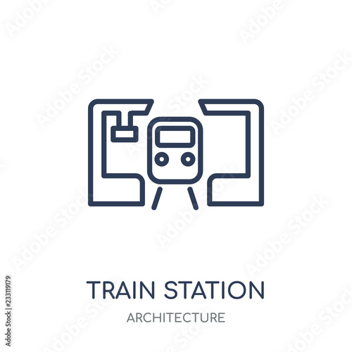 Fotografía  Train station icon