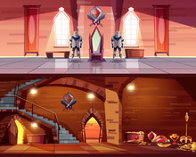 Medieval Castle Ballroom With ...