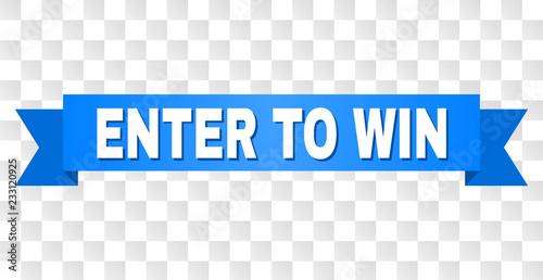 Fotografía  ENTER TO WIN text on a ribbon
