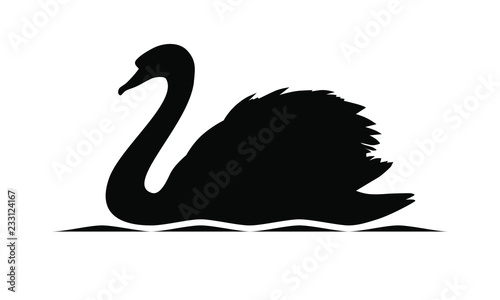 Swan graphic icon Canvas Print