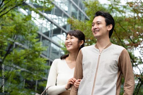 Fotografia, Obraz  young asian couple walking