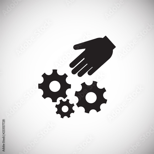 Keep hands clear hazard on white background icon Wallpaper Mural
