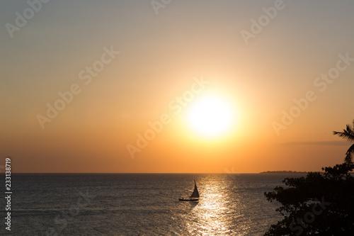 Sonnenuntergagn auf Sansibar