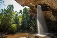 Sang Chan Waterfall (Moonlight Waterfall) At Pha Taem National Park ,Ubon Ratchathani Province,Thailand