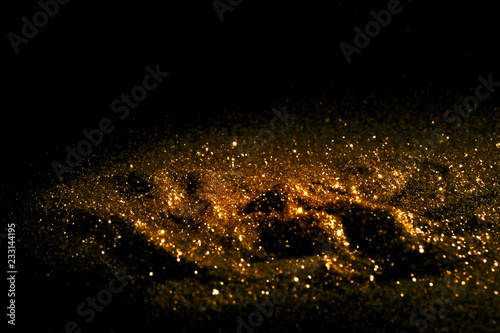 Sprinkle glitter gold dust textured abstract background elegant Wallpaper Mural