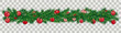 Christmas Green Twigs Red Baubles Transparent
