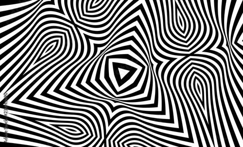 Fotografie, Obraz  Pattern with optical illusion
