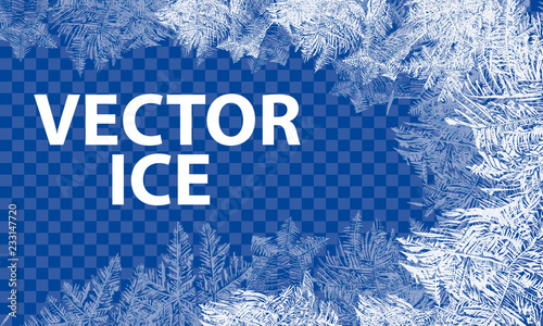 Vector Patterns Made by the Frost Fototapet