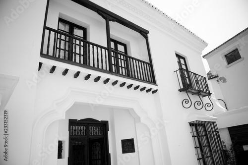 Foto auf AluDibond Gezeichnet Straßenkaffee Ronda