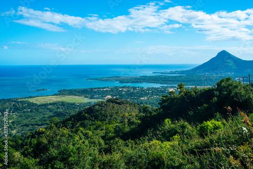 Ile Maurice - Chamarel - Point de vue sur le lagon Tapéta, Fotótapéta