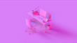 canvas print picture - Pink Contemporary Office 3d illustration 3d rendering