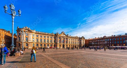 La place du Capitole à Toulouse en Occitanie, France Tapéta, Fotótapéta