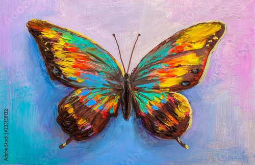 Obraz Malowany motyl - fototapety do salonu