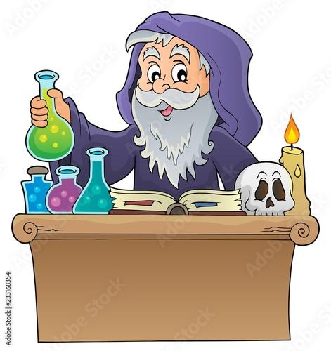 Staande foto Voor kinderen Alchemist topic image 1