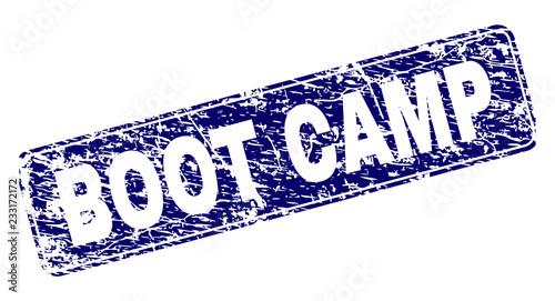 Fotografie, Obraz  BOOT CAMP stamp seal print with distress texture