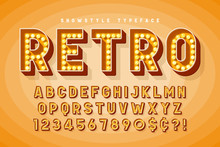 Retro Cinema Font Design, Caba...
