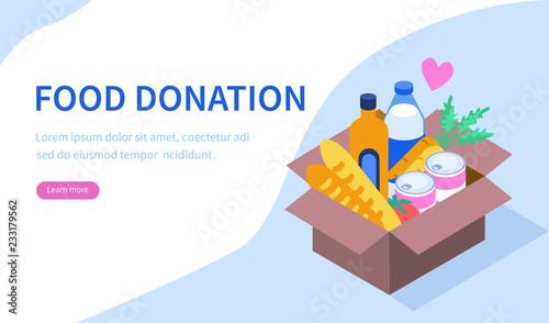 Fotografie, Obraz  food donation