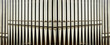 canvas print picture - part of the church organ with many air pipes made of metal