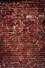 Vertical Vintage Old Red Brick Wall Background