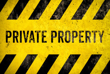 Private Property Warning Sign ...