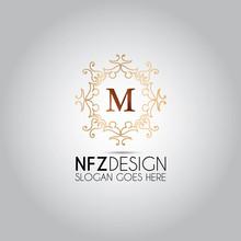 M Letter Ornament Mandala Logo