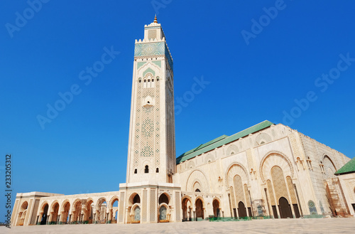 Hassan II mosque in Casablanca, Morocco Poster Mural XXL